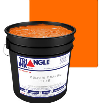 Triangle ink Dolphin Orange from GDM Graphics
