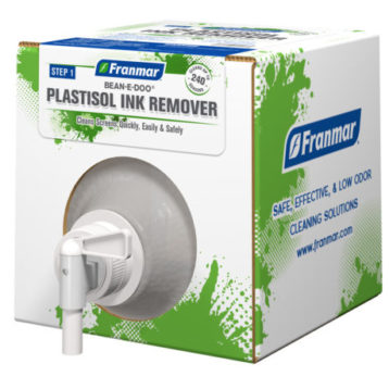 Bean-e-Doo Plastisol Ink Remover available at GDM Graphics