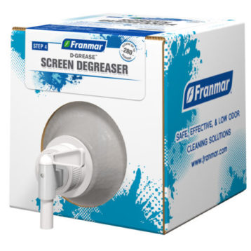 D-Grease Screen Degreaser available at GDM Graphics