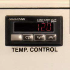 Dry-It has a temperature control readout